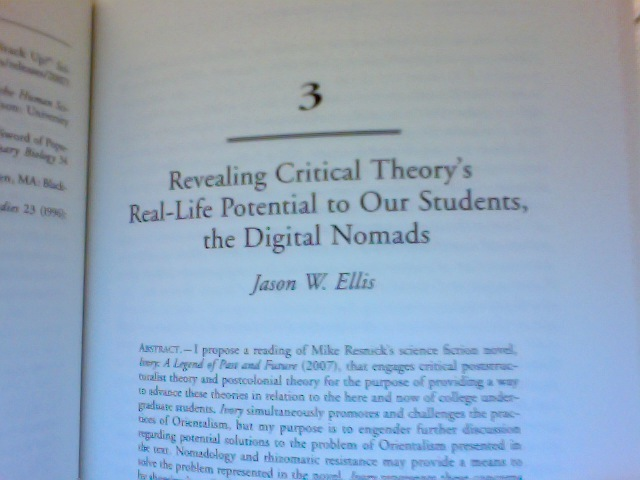 my first book chapter in practicing science fiction critical essays  i