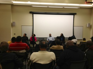 Audience and panelists at the State of Black SF Film Festival.