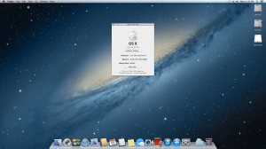 Mac OS X 10.8.4 desktop showing CPU and memory. Everything is running a-okay!