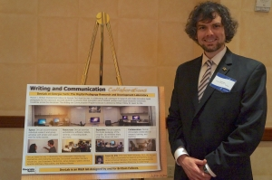 Standing next to my poster in the Buckhead Marriott.