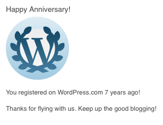 Happy Anniversary from WordPress.com!