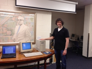 Me and the Power Macintosh 8500/120 in the Georgia Tech Library Archives.