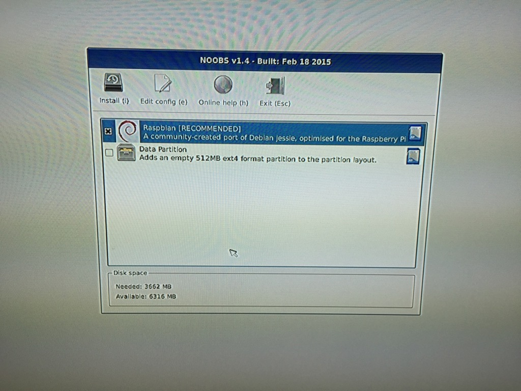 The NOOBS installer asks what you would like installed. Place a check next to Raspbian.