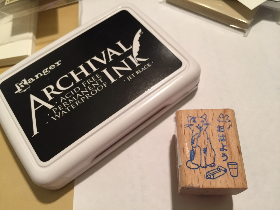 Making My Own Business Cards with a Rubber Stamp and Dip Pen ...