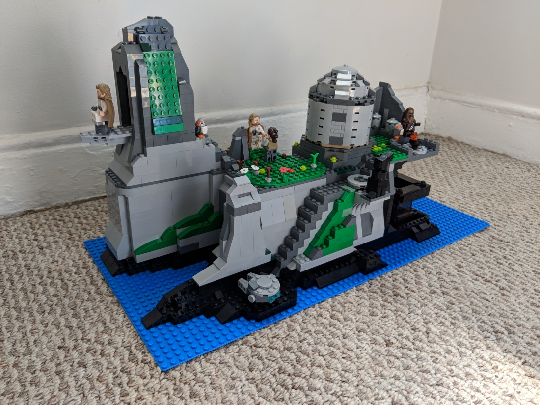 Lego Playset Moc Of Temple Island On Ahch To In Star Wars The Last Jedi Dynamic Subspace