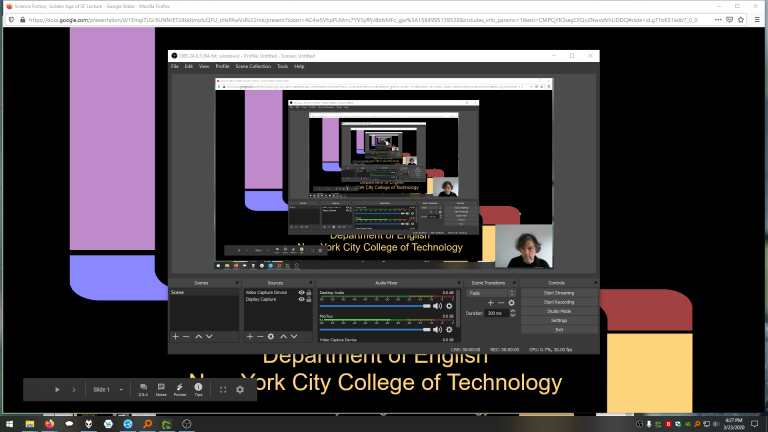 Screenshot of OBS Studio capturing the desktop.