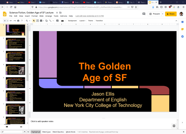 Google Slides example.