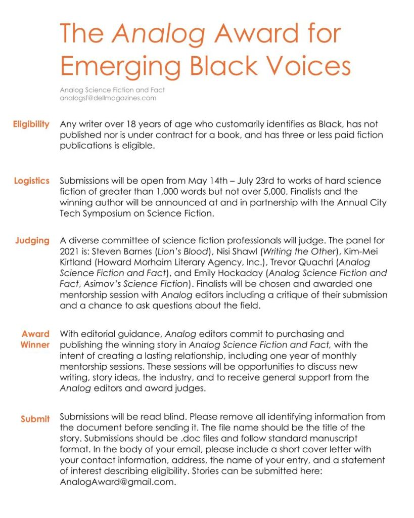 The Analog Award for Emerging Black Voices poster